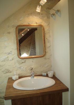 La salle de bain de la chambre Grenier